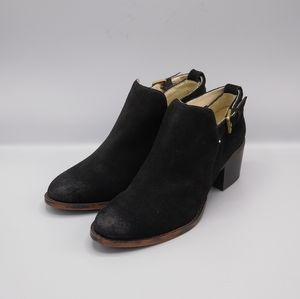 New SOHO NYC COBBLER Black Suede Ankle Booties